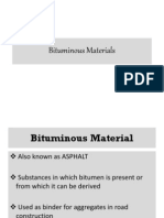 Bituminous Materials