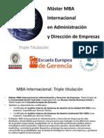 Máster MBA Internacional