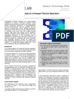Fracture Mechanics Study of a Compact Tension Specimen using Abaqus/CAE 2004