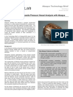 Filament Wound Composite Pressure Vessel Analysis with Abaqus 2005