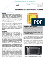 Electro-Mechanical Analysis of MEMS Devices with CoventorWare and Abaqus 2004