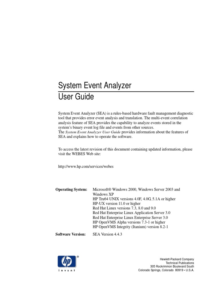system event analyzer user guide web browser hewlett packard rh scribd com 618 0138 Spindle 720 0138 Ng