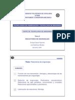TECNOLOGÍAS DE FABRICACIÓN Y TECNOLOGÍA DE MÁQUINAS