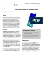 Warping and Residual Stress Analysis using the Abaqus Interface for Moldflow 2007