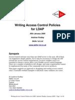 Access Control for LDAP Jan 2009