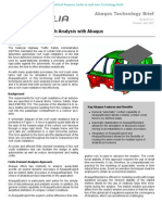 Automobile Roof Crush Analysis with Abaqus 2006