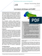 Fluid-Structure Interaction Analysis with Abaqus and FLUENT 2005