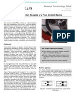 Fluid-Structure Interaction Analysis of a Flow Control Device 2007