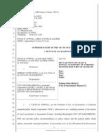 Lawsuit against City Of Sacramento