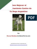Cýýmo Mejorar el Comportamiento Canino de tu Dogo Argentino