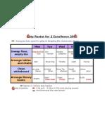 2E (2009) - Duty Roster