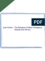 Juan Arvelo md – The Recipient of Many Prestigious Awards and Honors