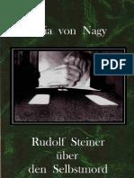 STEINER  ÜBER  DEN  SELBSTMORD - Marie von Nagy