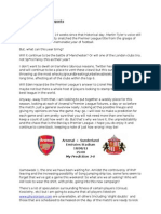 Pre-Match Arsenal Reports - Week 1