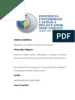 Plan Tesis Software Educativo