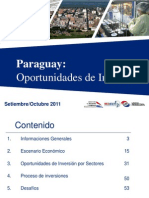 Paraguay Oportunidades de Inversion Set-Oct 2011[ESP]