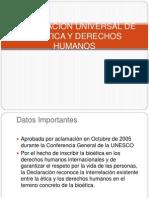 DECLARACIÓN UNIVERSAL DE BIOÉTICA Y DERECHOS HUMANOS