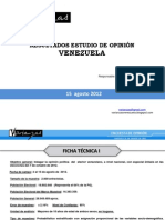Varianzas Presentación Encuesta Nacional AGOSTO de 2012