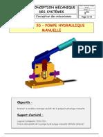 TP CAO 3D - Pompe à main