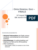 The Open General Quiz IITB - Finals Part 1
