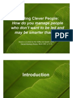 Leading Clever People
