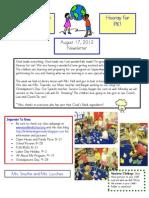 Newsletter August 17 2012