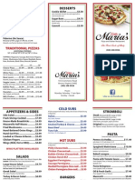 Little Marias to Go Menu