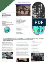 FALDEF Brochure 2012