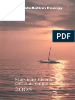 2005 Maryland Elected Officials Guide booklet from Constellation Energy