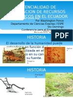 Potencialidad de Recursos Energeticos en El Ecuador
