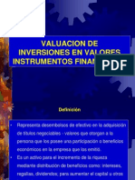 Valuación de Inversiones, Instrumentos Financieros