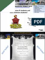 International Plan Newsletter, August 2012