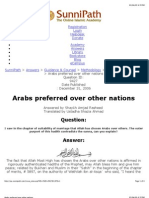 Arabs are preferred by Allah over other Nations