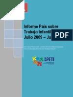 Informe País sobre Tabajo Infantil Julio 2009 - Junio 2010