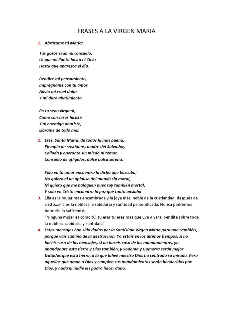 Frases A La Virgen Maria Rosario