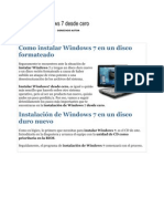 Instalar Windows 7 Desde Cero