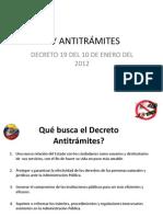 LEY ANTITRÁMITES