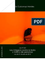 Ley Nº 263 - Ley integral contra la trata y el trafico de personas BOLIVIA