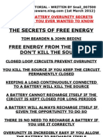 The Secrets of Building Lead Acid Battery Free Energy Devices FINAL