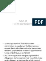 Kuliah 12-Model Baroklinik Ideal