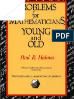 Problems for Mathematicians Young and Old by Paul R. Halmos