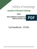 HTML Lab HandBook