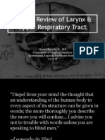 Clinical Review of Larynx Upper Resp Tract