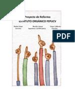 Reformas al Estatuto Orgánico FEPUCV