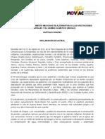 DECLARACION DEL I ENCUENTRO DEL MOVIAC