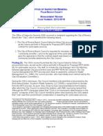 Investigative Report 2012-0018 Riviera Beach 081612