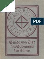 List, Guido Von - Das Geheimnis Der Runen (1907, 84 S., Scan)