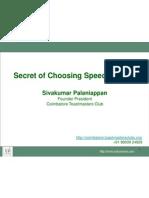 Choosing Speech Topic