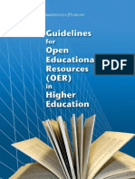 Guidelines for Open Educational Resources (OER) in Higher Education,