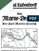 Ludendorff, Erich - Das Marne-Drama - Der Fall Moltke-Hentsch (1934, 31 S., Scan-Text, Fraktur)